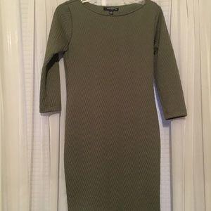 Sharagano olive textured dress size 4